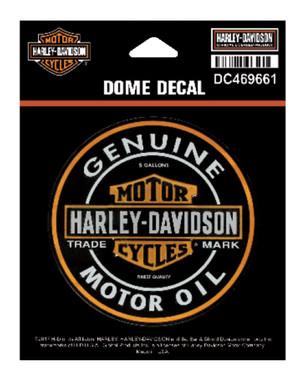 Harley-Davidson Dome Motor Oil Bar & Shield Decal, XS 3.375 x 3.375 in DC469661 - Wisconsin Harley-Davidson
