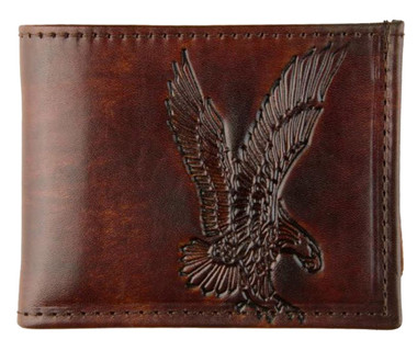 Mascorro Motorcycle Men's Billfold Wallet Genuine Leather Made in US - Wisconsin Harley-Davidson