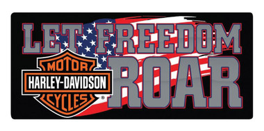 Harley-Davidson Freedom Roar B&S Embossed Tin Sign, 18 x 8 inches 2010791 - Wisconsin Harley-Davidson