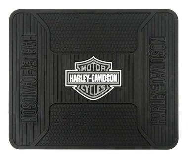 Harley-Davidson Utility Mat, Elite Series Bar & Shield, Non-Carpeted, Gray 1107G - Wisconsin Harley-Davidson