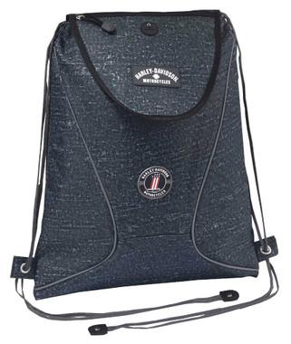 Harley-Davidson Sling Backpack, Lightweight & Durable Blue Rain Design 99667 BR - Wisconsin Harley-Davidson