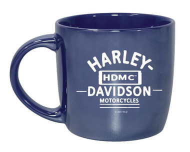 Harley-Davidson Blue City Lustre Ceramic Coffee Cup, Blue 14 oz. 3CLM4925 - Wisconsin Harley-Davidson