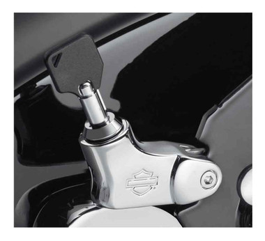 Harley-Davidson HoldFast Locking Latch - Chrome Finish, Softail Models 52300513 - Wisconsin Harley-Davidson