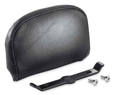 Harley-Davidson Passenger Backrest Pad - Compact - Smooth Black Vinyl 52300559 - Wisconsin Harley-Davidson