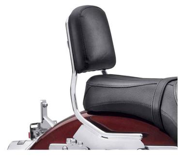Harley-Davidson Passenger Backrest Pad - Mid-Size, Smooth Black Vinyl 52300560 - Wisconsin Harley-Davidson