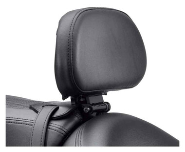Harley-Davidson Adjustable Rider Backrest, Fits Softail Models, Black 52300409 - Wisconsin Harley-Davidson