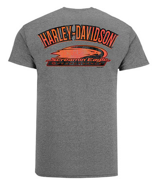 Harley-Davidson Men's Screamin' Eagle Outline Short Sleeve Tee, Gray HARLMT0263 - Wisconsin Harley-Davidson