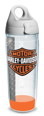 Harley-Davidson Bar & Shield Logo Water Bottle w/ White Lid, 24 oz. 1124953 - Wisconsin Harley-Davidson