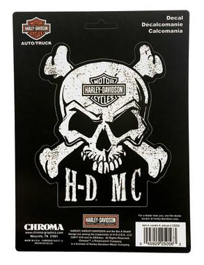 Harley-Davidson Skull & Crossbones Stick Onz Decal Set, 6 x 8 inches CG25056 - Wisconsin Harley-Davidson