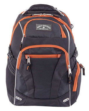 Harley-Davidson Renegade Steel Cable Lightweight Backpack Black 99206 RUST/BLACK - Wisconsin Harley-Davidson