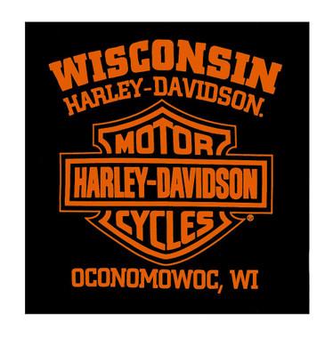 Harley-Davidson Men's Ride Along Short Sleeve Crew Neck Shirt, Solid Black - Wisconsin Harley-Davidson