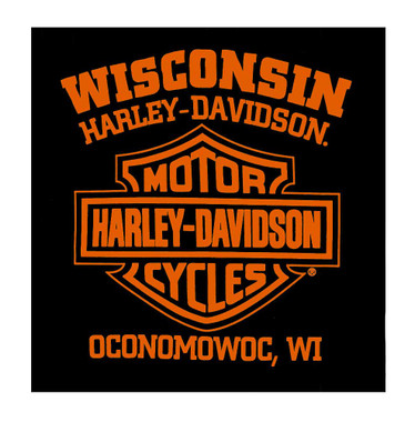 Harley-Davidson Men's No Joke All-Cotton Short Sleeve T-Shirt, Solid Black - Wisconsin Harley-Davidson