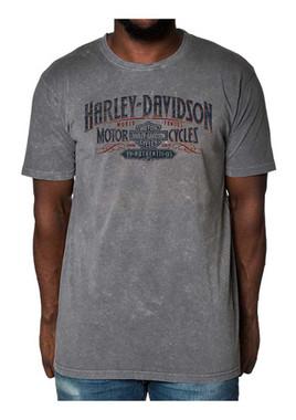 Harley-Davidson Men's Distressed Brawl Premium Short Sleeve T-Shirt, Steel Gray - Wisconsin Harley-Davidson