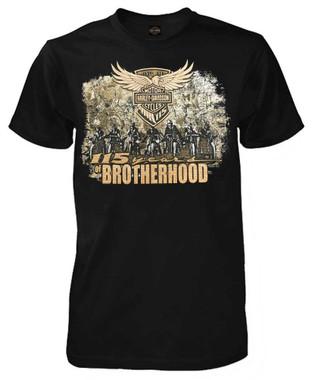 Harley-Davidson Men's 115th Anniversary Brotherhood Short Sleeve T-Shirt, Black - Wisconsin Harley-Davidson