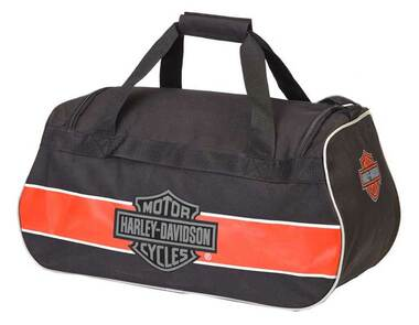 Harley-Davidson Classic Bar & Shield Sports Duffel Bag w/ Strap 99418 RUST/BLACK - Wisconsin Harley-Davidson