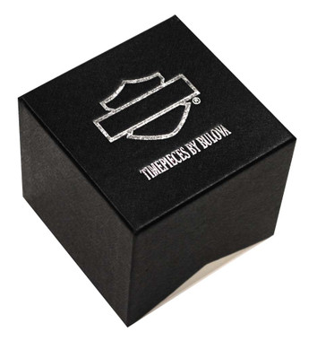 Harley-Davidson Women's Studded Leather Cuff Stainless Steel Watch, Black 78L128 - Wisconsin Harley-Davidson