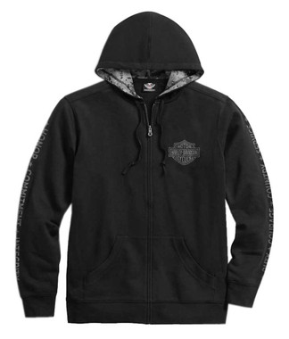 Harley-Davidson Men's Wounded Warrior Project Stars & Strips Hoodie 99057-17VM - Wisconsin Harley-Davidson