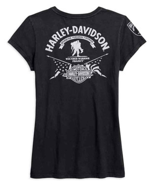 Harley-Davidson Women's Wounded Warrior Project Stars & Stripes Tee 99060-17VW - Wisconsin Harley-Davidson