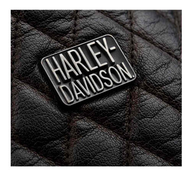 Harley-Davidson Men's Quilted Red Leather Accent Jacket, Black 97441-18VM - Wisconsin Harley-Davidson