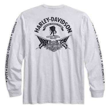Harley-Davidson Men's Wounded Warrior Project Stars & Stripes Shirt 99059-17VM - Wisconsin Harley-Davidson