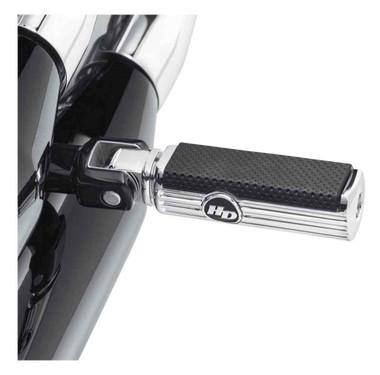 Harley-Davidson Defiance Passenger Footpegs - Chrome, Softail Models 50500831 - Wisconsin Harley-Davidson
