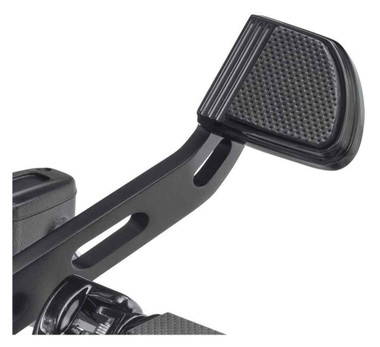 Harley-Davidson Defiance Brake Pedal Pad - Small, Black Anodized 50600256 - Wisconsin Harley-Davidson