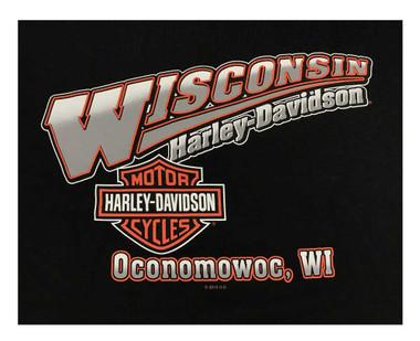 Harley-Davidson Men's Screamin' Eagle Logo Crew-Neck Pullover Sweatshirt, Black - Wisconsin Harley-Davidson