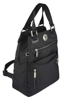 Harley-Davidson Women's World Tour Collection Backpack / Handbag WT8314S-BLACK - Wisconsin Harley-Davidson