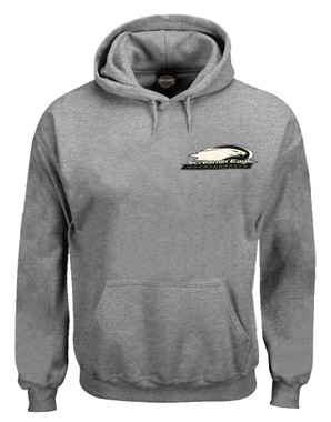 Harley-Davidson Men's Screamin' Eagle Hooded Pullover Sweatshirt, Oxford Gray - Wisconsin Harley-Davidson