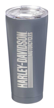 Harley-Davidson Double Wall Stainless Steel Etched Tall Tumbler, 28 oz. 3SSB4912 - Wisconsin Harley-Davidson