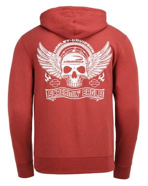 Harley-Davidson Men's Screamin' Eagle Flying Skull Full-Zip Hoodie HARLMS0078 - Wisconsin Harley-Davidson