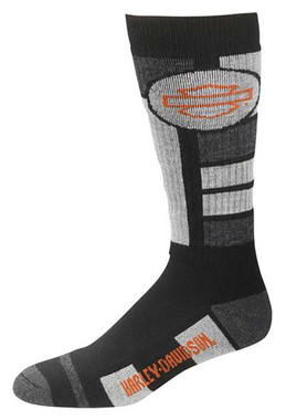 Harley-Davidson Men's Ultra Cushion Wool Riding Socks, Black D99210570-020 - Wisconsin Harley-Davidson