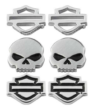 Harley-Davidson Women's Bar & Shield/Skull Stud Earrings Set - 3 Styles HDS0005 - Wisconsin Harley-Davidson