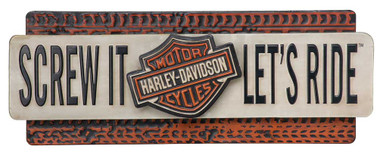 Harley-Davidson Screw It Let's Ride Embossed Metal Sign, 22 x 9 Inches HDL-15518 - Wisconsin Harley-Davidson