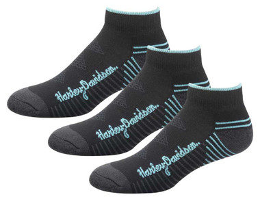 Harley-Davidson Wolverine Women's Comfort Cruiser Riding Socks, Black 3 Pairs - Wisconsin Harley-Davidson