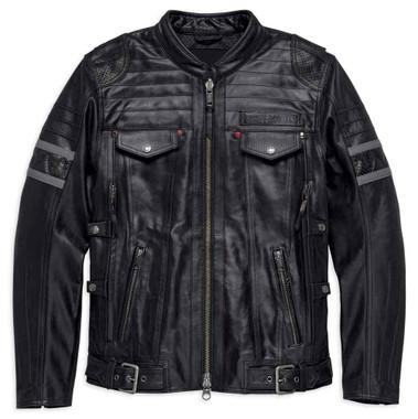 Harley-Davidson Men's Triple Vent System Wick Twister Leather Jacket 98023-18VM - Wisconsin Harley-Davidson