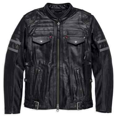 Harley-Davidson Men's Triple Vent System Wick Twister Leather Jacket 98023-18VM - Wisconsin Harley-Davidson