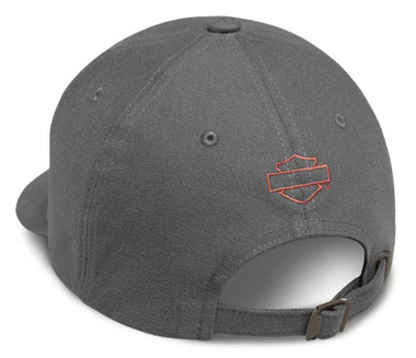 Harley-Davidson Men's Genuine Logo Patch Baseball Cap, Gray 99435-18VM - Wisconsin Harley-Davidson