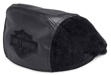 Harley-Davidson Men's Bar & Shield Logo Leather Ivy Cap, Black 99432-18VM - Wisconsin Harley-Davidson