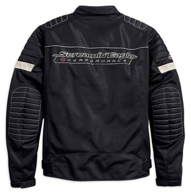 Harley-Davidson Men's Screamin' Eagle Mesh Riding Jacket, Black 98161-18VM - Wisconsin Harley-Davidson