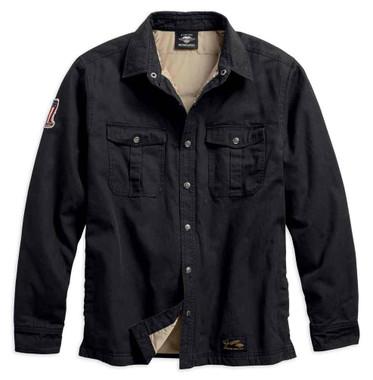 Harley-Davidson Men's #1 Genuine Classics Shirt Jacket, Black 99044-18VM - Wisconsin Harley-Davidson