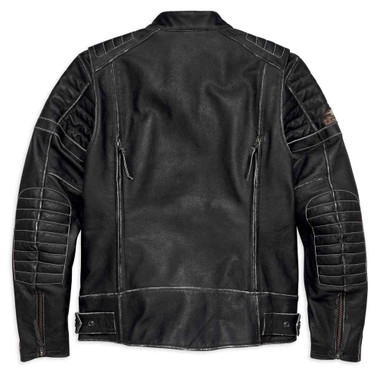 Harley-Davidson Men's Screamin' Eagle Leather Jacket, Black 98028-18VM - Wisconsin Harley-Davidson
