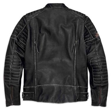 Harley-Davidson Men's Screamin' Eagle Leather Jacket, Black 98028-18VM - Wisconsin Harley-Davidson