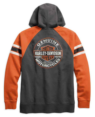 Harley-Davidson Men's Genuine Oil Can Zippered Hoodie, Asphalt 99065-18VM - Wisconsin Harley-Davidson