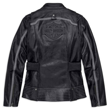 Harley-Davidson Women's Hairpin Vented Leather Jacket, Black 98029-18VW - Wisconsin Harley-Davidson