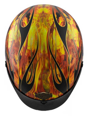 Harley-Davidson Men's Fire Breather Ultra-Light J02 Half Helmet 98173-18VX - Wisconsin Harley-Davidson