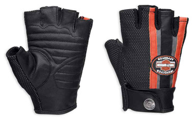 Harley-Davidson Women's Mixed Media Fingerless Gloves w/ Coolcore 98168-18VW - Wisconsin Harley-Davidson