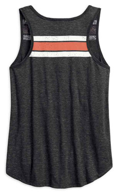 Harley-Davidson Women's Genuine Oil Can Sleeveless Tank Top, Black 99069-18VW - Wisconsin Harley-Davidson