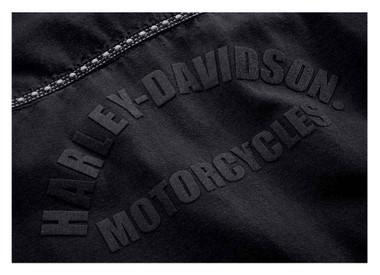 Harley-Davidson Women's Studded Raw Hem Long Sleeve Woven Shirt 99102-18VW - Wisconsin Harley-Davidson