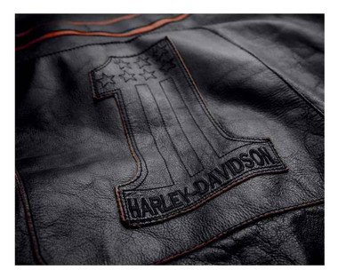Harley-Davidson Men's Double Ton Slim Fit Leather Jacket, Black 98033-18VM - Wisconsin Harley-Davidson